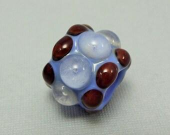 Glow in the Dark Dread Bead - Big Hole Bead - Lampwork Glass Bead - BHB - Loc Jewelry  loc accessories  loc bead  loc cuff