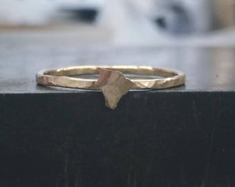 Big Island Hawaii Ring . Sterling Silver 14k Gold Fill Rose Gold Fill Stacking Ring . Handmade Rings .