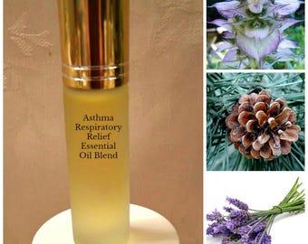 Asthma Respiratory Relief Essential Oil Blend, Bronchial attacks, Antispasmodic, Musculoskeletal, Breathing Attacks, Best Seller!