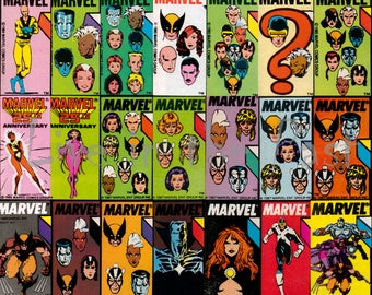 11x17 X-Men 1980's team collage poster print
