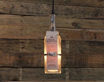 Basil Hayden Pendant Light / Whiskey Bottle Ceiling Light Fixture, Hanging Light, Bar Lighting, Bourbon Bottle Pendant, Kitchen Lighting