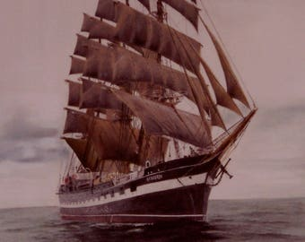 Tall Ship Print- 'The Kruzenshtern'