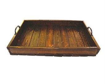 Hospitality Tray - Solid Wood Tray - Rustic Tray - Farmhouse Tray