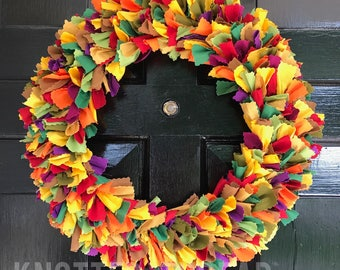 Fall Fabric Wreath KIT - DIY Decor - Handmade
