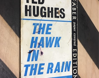The Hawk in the Rain by Ted Hughes (1970) softcover book