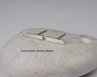 Silver Bar Earrings Silver Studs Minimalist Earrings 925 Modern Earrings Silver Stud Earrings