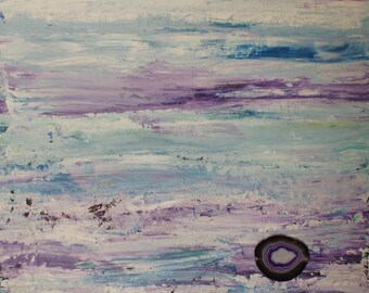 Caribbean Dream - Abstract Acrylic Original Painting - 20x20x1.5