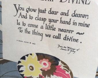Buzza Motto Friendship Divine