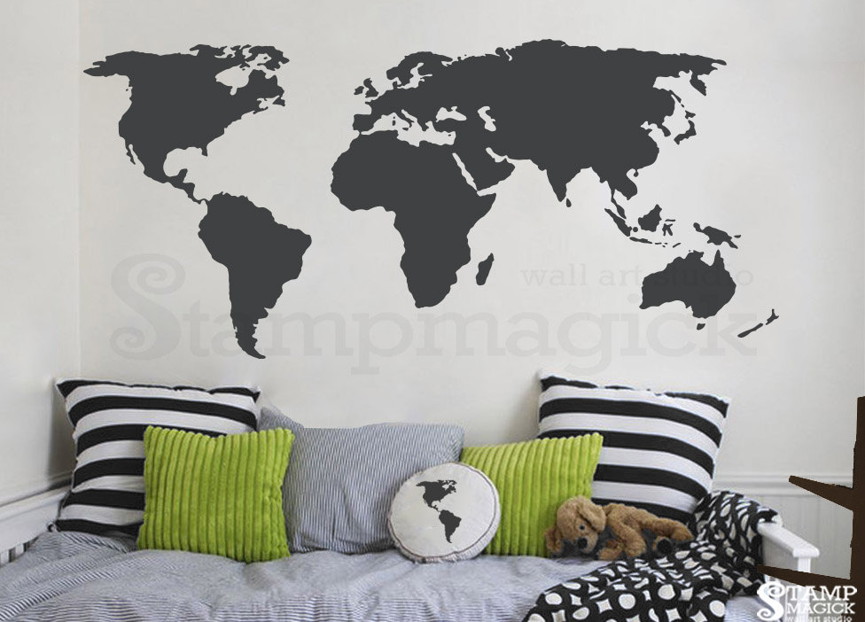 World map wall decal world map decal vinyl wall art mural zoom gumiabroncs