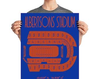 Boise State Football Albertsons Stadium Poster