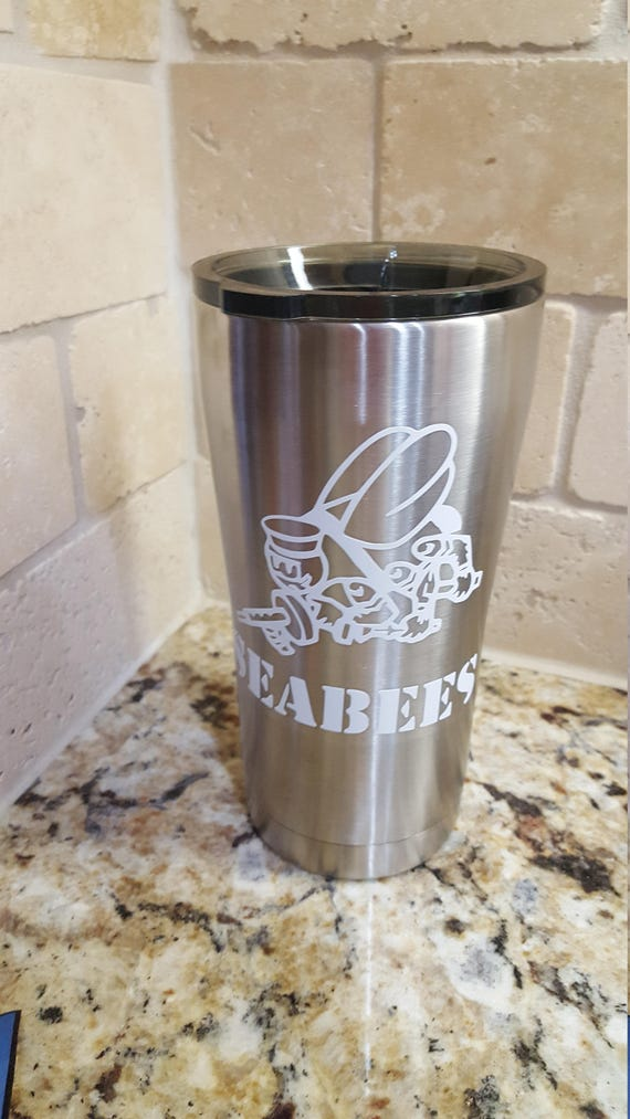 Seabee, US Navy, US Navy Chief, Navy sticker, Cup car decal, vinyl decal for tumbler cup, vinyl stickers, Military vinyl, stickers