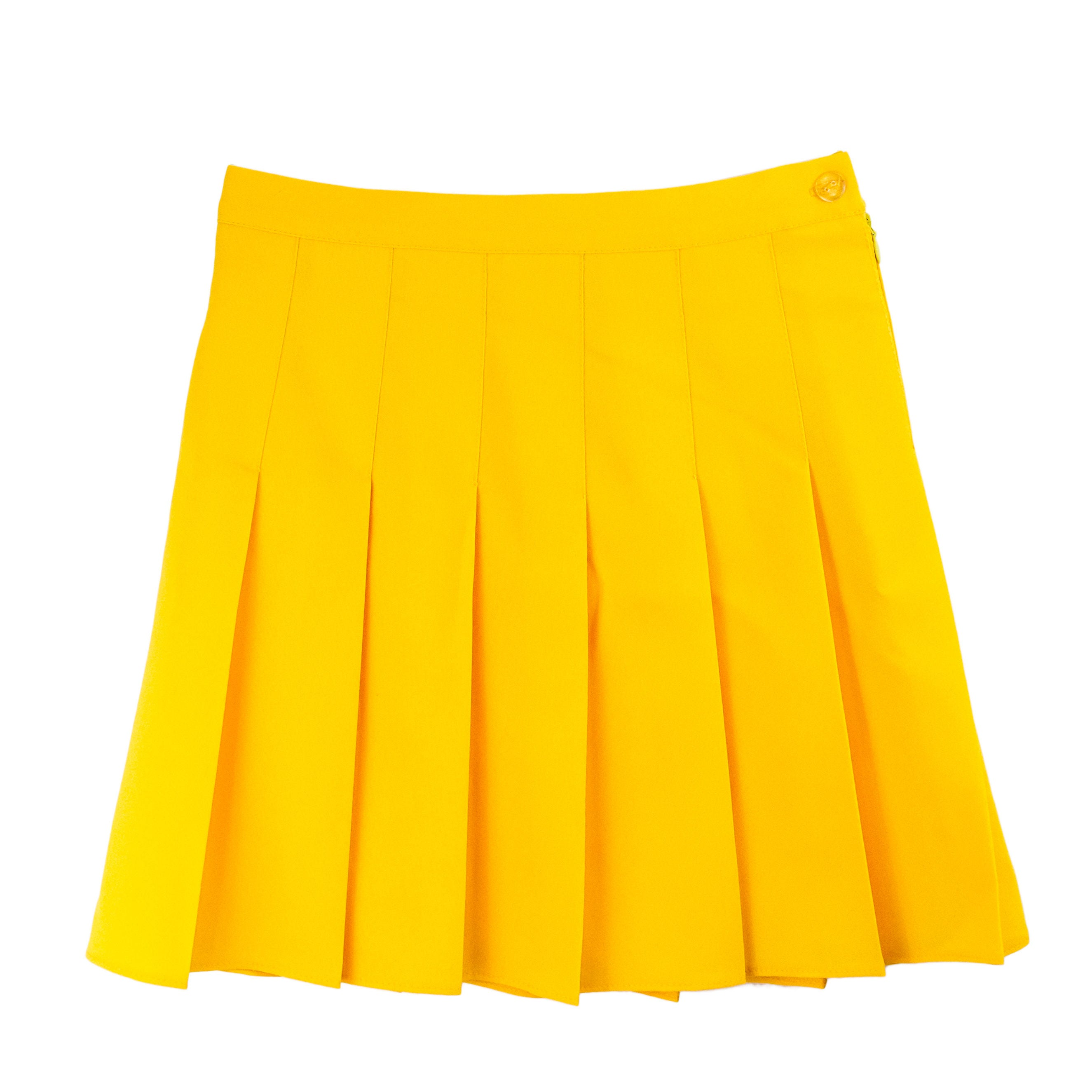 yellow tennis skirt pleated skirt american apparel grunge