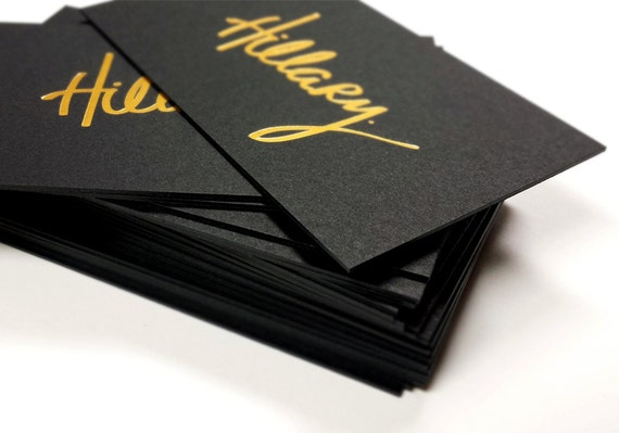 Black business cards 700gsm foil on double sided colourmoves