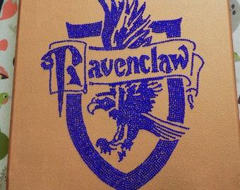"Handmade Ravenclaw Crest large 10""x12"" Canvas"