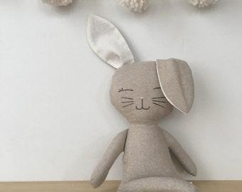 Natural Linen Sleepytime bunny