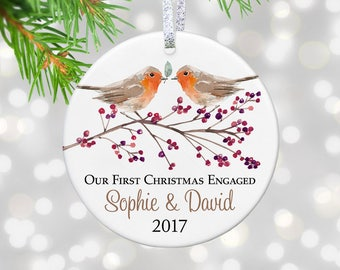 Personalized Engagement Ornament Engaged Gift - Engaged Ornament - Engagement Announcement - I'm Engaged - Fiance Gift - Engagement Gift