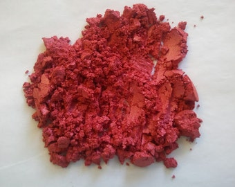 Powdered Mica CORAL PINK Red Soap Color Mineral Makeup Soapmaking Candles Spa Products