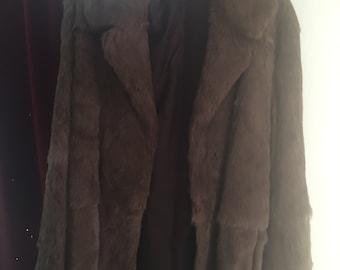 1980's real fur coat
