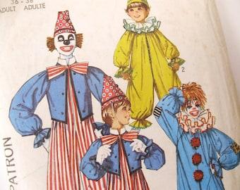 One dollar SALE Halloween diy Simplicity 7162 Pattern for adult's clown costumes, medium