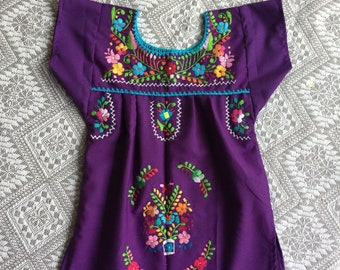 Mexican baby dress size 1 /embroidered dress 9m+\fiesta dress/coco