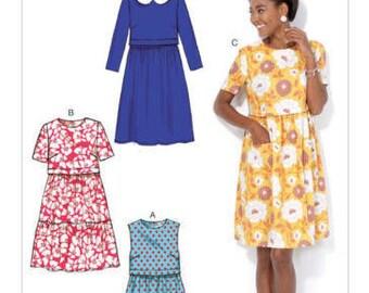 McCalls M7080 Size 6-14 or 14-22 Misses Dresses Sewing Pattern / Uncut/FF
