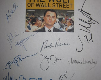 The Wolf of Wall Street Signed Film Movie Script Screenplay X18 Autograph Leonardo DiCaprio Margot Robbie Jonah Hill Martin Scorsese Reiner
