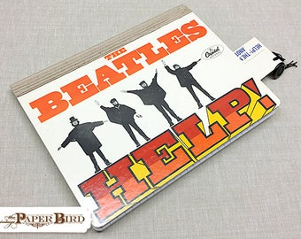 The Beatles - HELP | Up-cycled | Recycled Album | Altered Notebook | Blank Book | Idea Book | Journal
