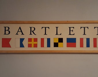 Nautical Flag & Name Sign