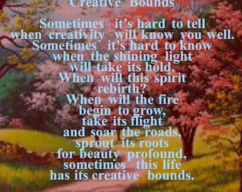 Creative Bounds by Christopher Cariad- Poetry Print
