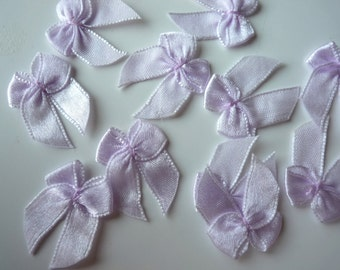 RIBBON BOWS , Light wisteria purple   , 12 pieces / 592