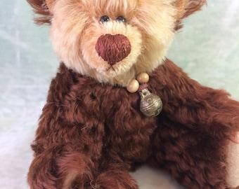 Kunstenaar teddybeer - Mohair Bear - verzamelaars teddybeer - College Student Gift - beste vriend cadeau - Keepsake Bear - College graduatiegift