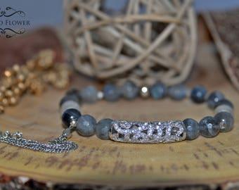 Labradorite Bracelet, Beaded Bracelet, Gemstone Bracelet, Women Bracelet, Gift for Her