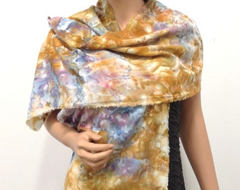 Scarf Bamboo Hand Dyed Ice Soft Multicolored Colorful Elegant Lightweight Handmade Camel Brown Light Sky Blue Navy Peach Cream Deep Purple