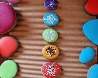 REDUCED/Chakra Painted Reiki Infused Stones