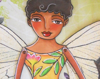Printable Paper-doll download Butterfly fairy