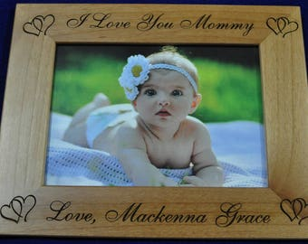 Birthday Gift For Mom ~ To Mommy From Baby ~ New Baby Gift ~ Picture Frame ~ Gift For New Parents ~ Custom Picture Frames ~ Mothers Day Gift