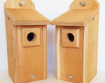 2 Cedar Chickadee Houses