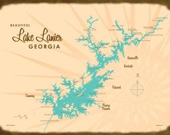 Lake Lanier, GA - Wood or Metal Sign