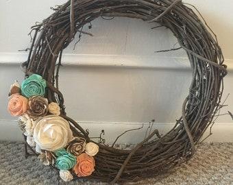 Sola Wood Flower Wreath