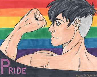 Fan Art Print - Gay Pride Helios