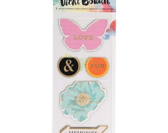 Vicki Boutin Mixed Media Magnet Bookmarks 5/Pkg • Magnetic Page Markers (376850)