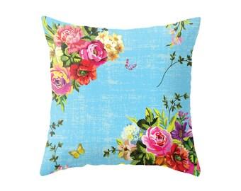 Bright Florals Accent Pillow Cover - Throw Pillows - Decorative Pillows