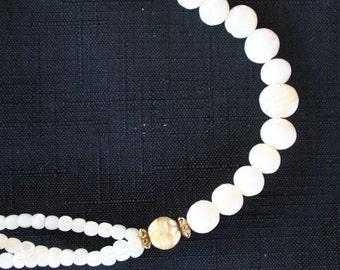 Vintage Swirl Bead Necklace