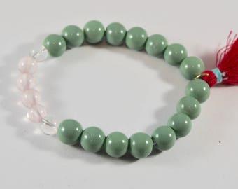 Quartz and Rose Quartz Bracelet