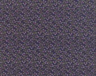 Fabric-Moda-Navy Blue Clover Fabric-American Jane #2168314 Lorraine Collection