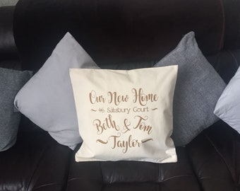 Personalised cushion cover, new mr and mrs cushion cover, wedding gift, house warming gift, personalised cushion, new home, mr and mrs , mrs
