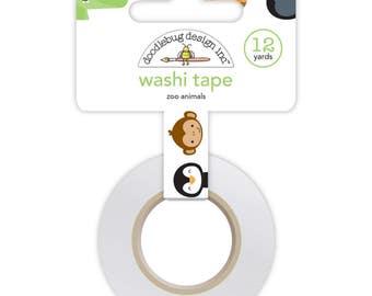 Zoo Animals At The Zoo Washi Tape Doodlebug Design (5570)