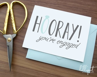 Engagement Card | Hooray! You're Engaged