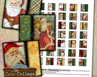 Father Christmas, Digital Collage Sheet, 1x1 Collage Sheet, Christmas Images, Holiday Images, Christmas Images, Digital Download