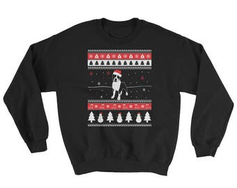 Cute Staffordshire Bull Terrier Ugly Christmas Sweater Funny Staffie Dog Gift